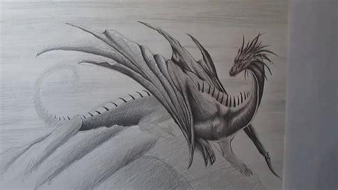 draw  realistic dragon  pencil step  step