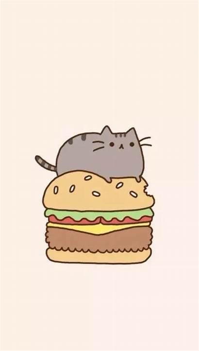 Pusheen Wallpapers Burger Cat Iphone Backgrounds Computer