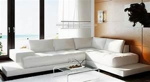 canape d39angle en cuir genova livraison offerte With canapé d angle arrondi cuir