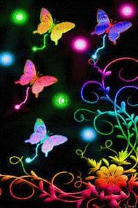 Beautiful Neon Butterflies Bing