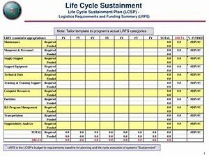Ppt life cycle sustainment life cycle sustainment plan for Sustainment plan template