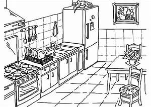 Drawing kitchen coloring pages download print online for Kitchen colors with white cabinets with kids world map wall art