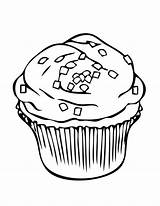 Cupcake Coloring Sprinkles Topping Pages Netart Milk Colouring Template Cookies Cupcakes Cookie Printable Cake Sheet Chocolate Chip sketch template
