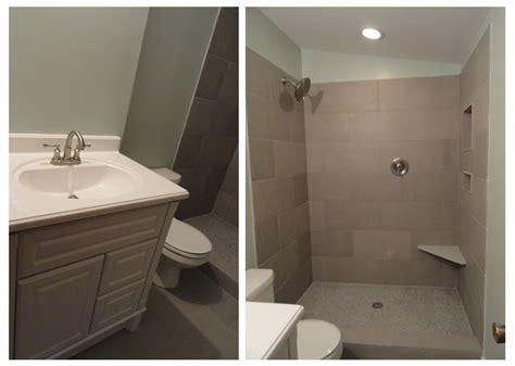 mcbrides on the go tile vanity drywall bathroom