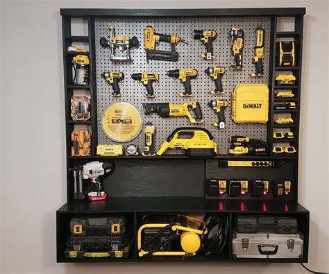 diy power tool storage  charging station power tool