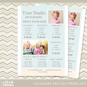 photography print package pricing list template portrait With wedding photography package names