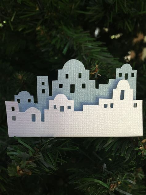 skyline bethlehem white light blue cardstock foam