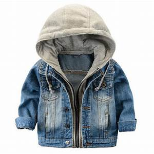 Fashion Denim baby Boys Children outerwear coat fashion kids jackets for Boy girls jacket hooded ...
