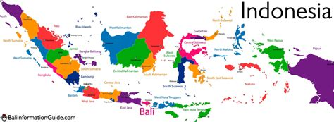 bali indonesia detailed maps   island  region