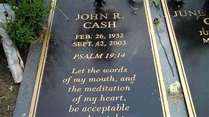 Johnny Cash and June Carter Cash burial site.Mother ...