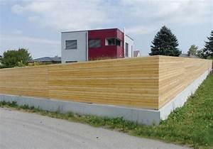 Sichtschutz Befestigung Auf Mauer : sichtschutz waagrecht durchgehend montiert garten in ~ Watch28wear.com Haus und Dekorationen