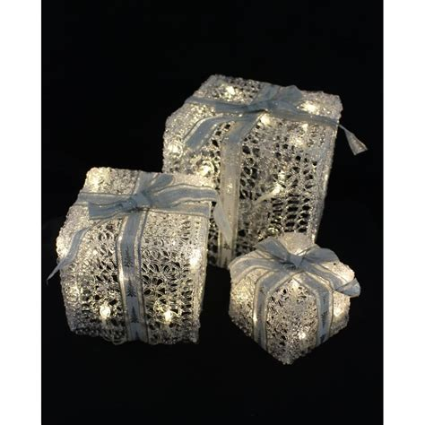 led light up presents 3 piece led light up gift boxes christmas from tj hughes uk