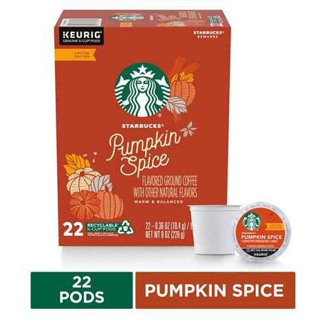 Starbucks is a coffee giant the world over, and with their verismo coffee machines, they are making moves into your kitchen. Starbucks Flavored K-Cup Coffee Pods — Pumpkin Spice for ...