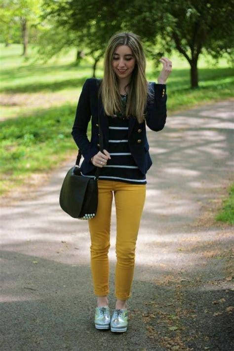Yellow Skinniesu2026 - 7 Great Ways to Wear Bright Yellow ... u2026