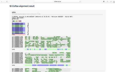 It can align protein, dna and rna sequences. Multiple Sequence Alignment using Clustal Omega and T-Coffee