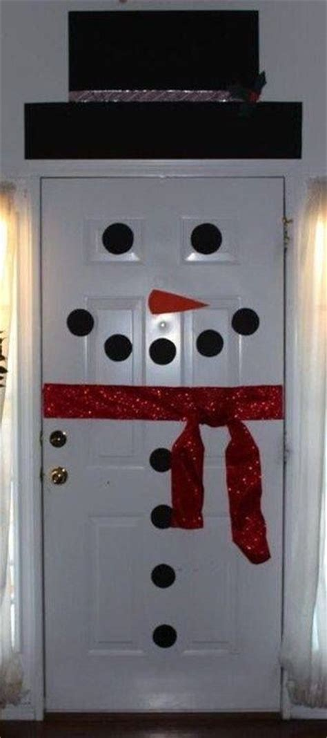 decorate your door frosty the snowman pinterest
