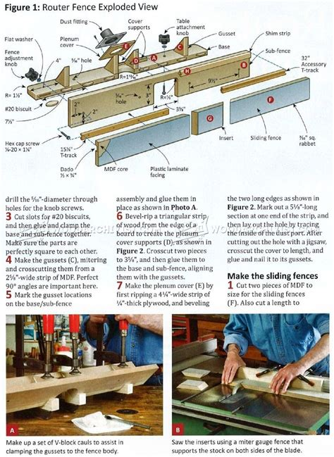 diy router table fence woodarchivist
