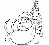 Santa Claus Presents Delivering Coloring Christmas Coloringcrew Colorear sketch template