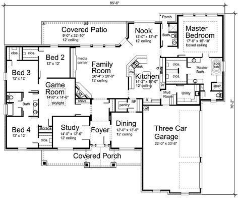 Luxury House Plan S3338r