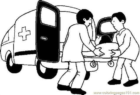 coloring pages ambulance  transport special transport
