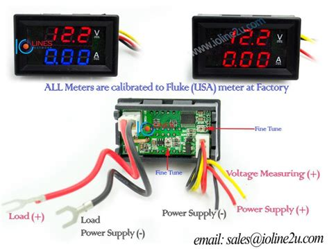 0 uff5e50v dc dual display voltmeter current meter 10a ammeter wiring two dual 4 ohm subs to 2 ohms