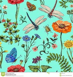 Summer Vector Seamless Pattern. Botanical Wallpaper ...