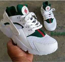 Custom Gucci White Huaraches