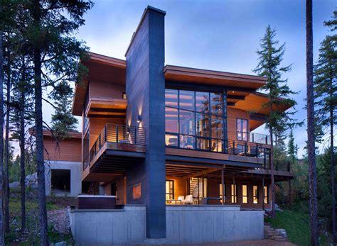 cuisine chalet montagne moderne maison rustique à l architecture et agencement créatif au montana vivons maison