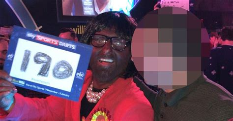outrage  darts fan dresses   blackface  mp diane abbott  bookies defends  mirror