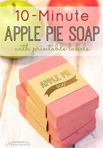 10 minute apple pie soap labels happiness is homemade With how to make soap labels
