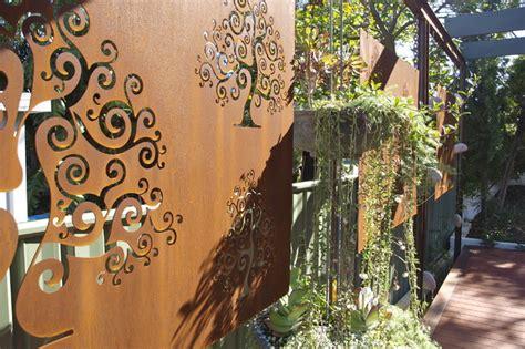 corten steel designs corten steel garden screens contemporary landscape perth by sustainable garden design perth