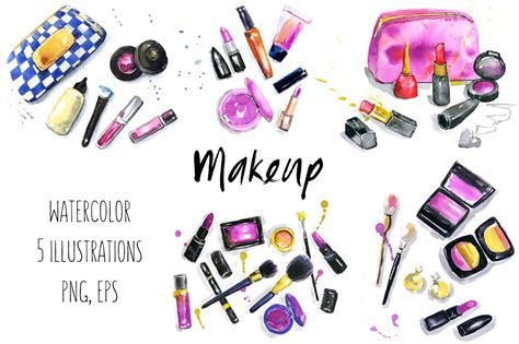 clipart illustrations makeup cosmetics illustrations illustrations