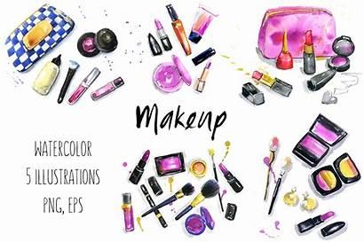 Makeup Cosmetics Illustrations Clip Clipart Graphics Creative