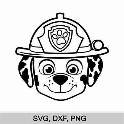 Paw Patrol Marshall Svg Face Clipart Birthday