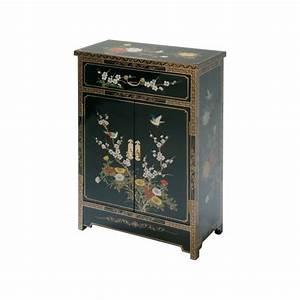 Meuble Laqué Noir : meuble chinois noir laqu promodiscountmeubles magasin ~ Premium-room.com Idées de Décoration