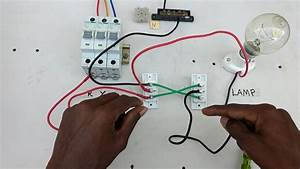Two Way Switch Connection Type 4 - In Tamil  Two Way Switch Wiring Diagram