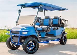 Electric Blue Kevlar Six Seater Golf Cart
