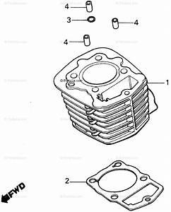 Honda Atv 1987 Oem Parts Diagram For Cylinder