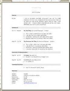 free professional curriculum vitae exles professional cv template