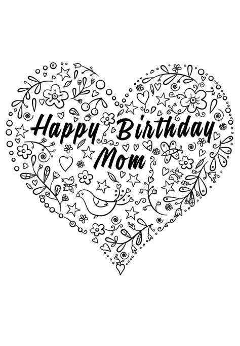 happy birthday mom coloring pages activity shelter