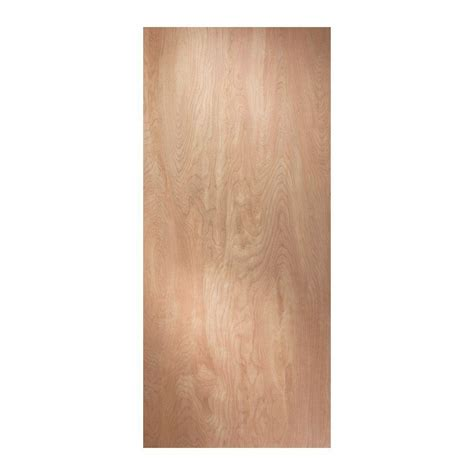 home depot wood doors interior jeld wen 24 in x 80 in birch unfinished flush wood