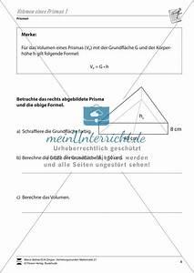 Volumen Eines Prismas Berechnen : volumen eines prismas bestimmen ~ Themetempest.com Abrechnung