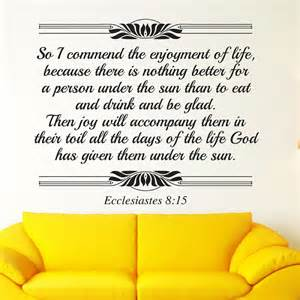 Ecclesiastes 8:15 bible verse wall decal Divine Walls