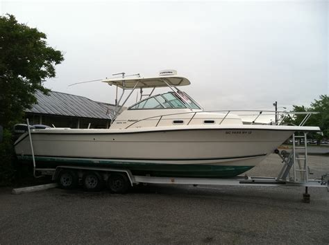 Pursuit Boats 2870 Wa by 2001 Pursuit 2870 Walkaround With Trailer 48 500 The