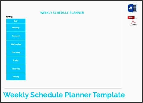 Timetable Templates 21 Free Word Pdf Excel Templates 7 Editable Weekly Time Planner Template Sletemplatess