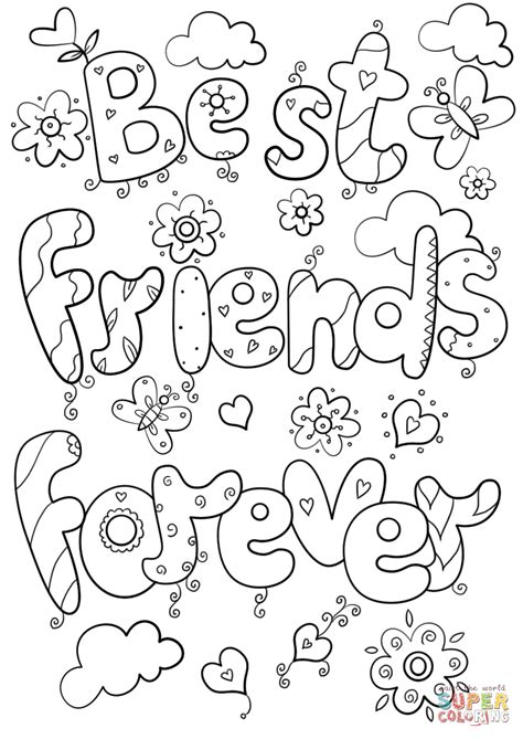 best friend coloring pages best friends forever coloring page free printable