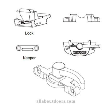 weather shield single  double hung window parts hardware