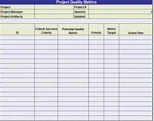 Plan quality templates project management templates for Quality assurance metrics template