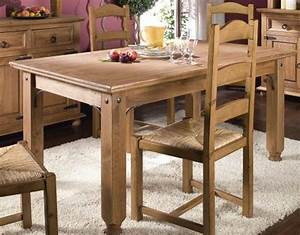 salle a manger rustique conforama With table de salle À manger en bois massif pour petite cuisine Équipée