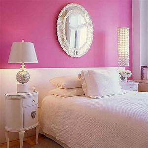 Cute, Bedroom, With, Pink, Wall, U2013, Home, And, Apartment, Ideas